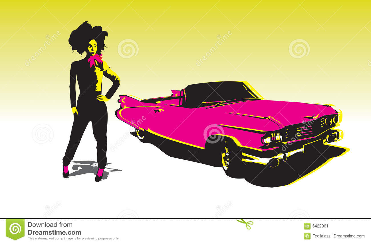 Asian girl with car stock vector  Illustration of teenagers