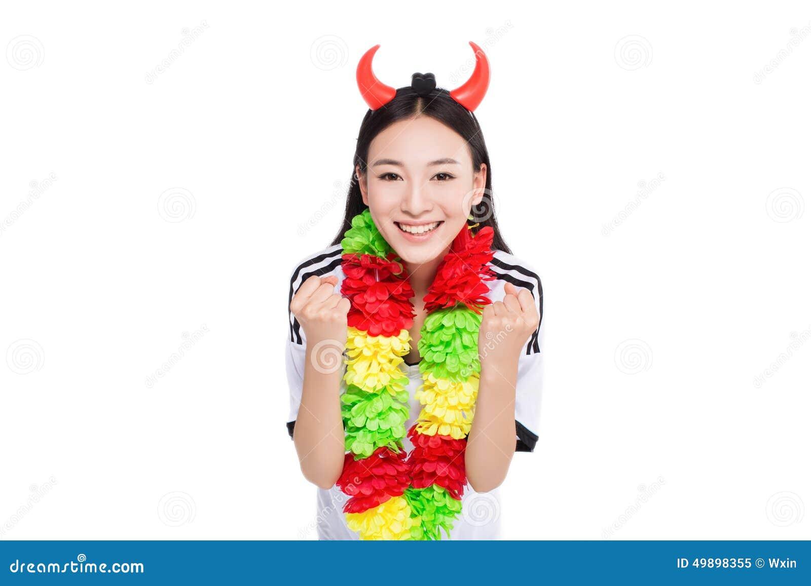 Girl cheerleader asian