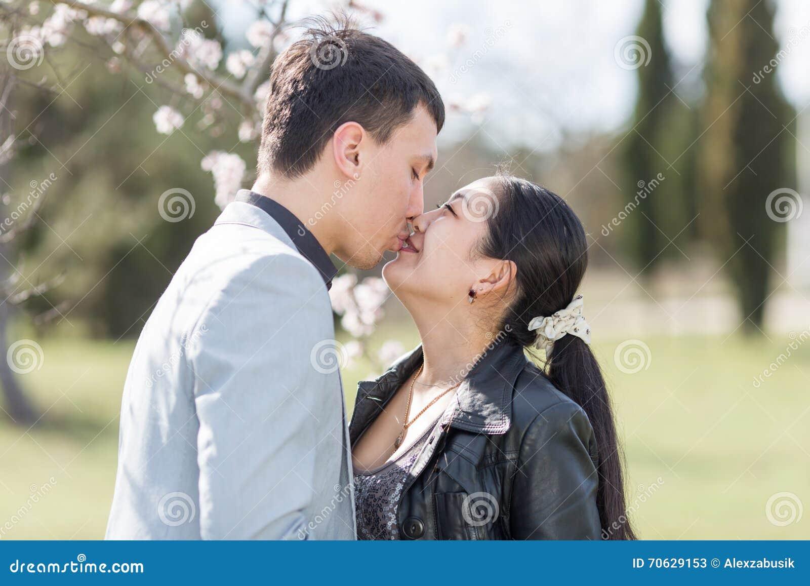 Kissing asian teen kissing asian