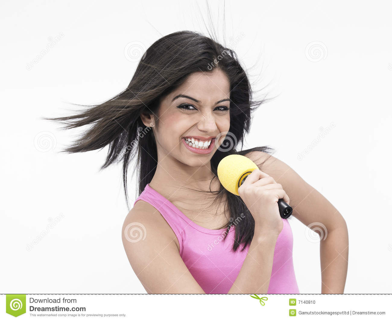 asian girl singing stock photo   image 7140810
