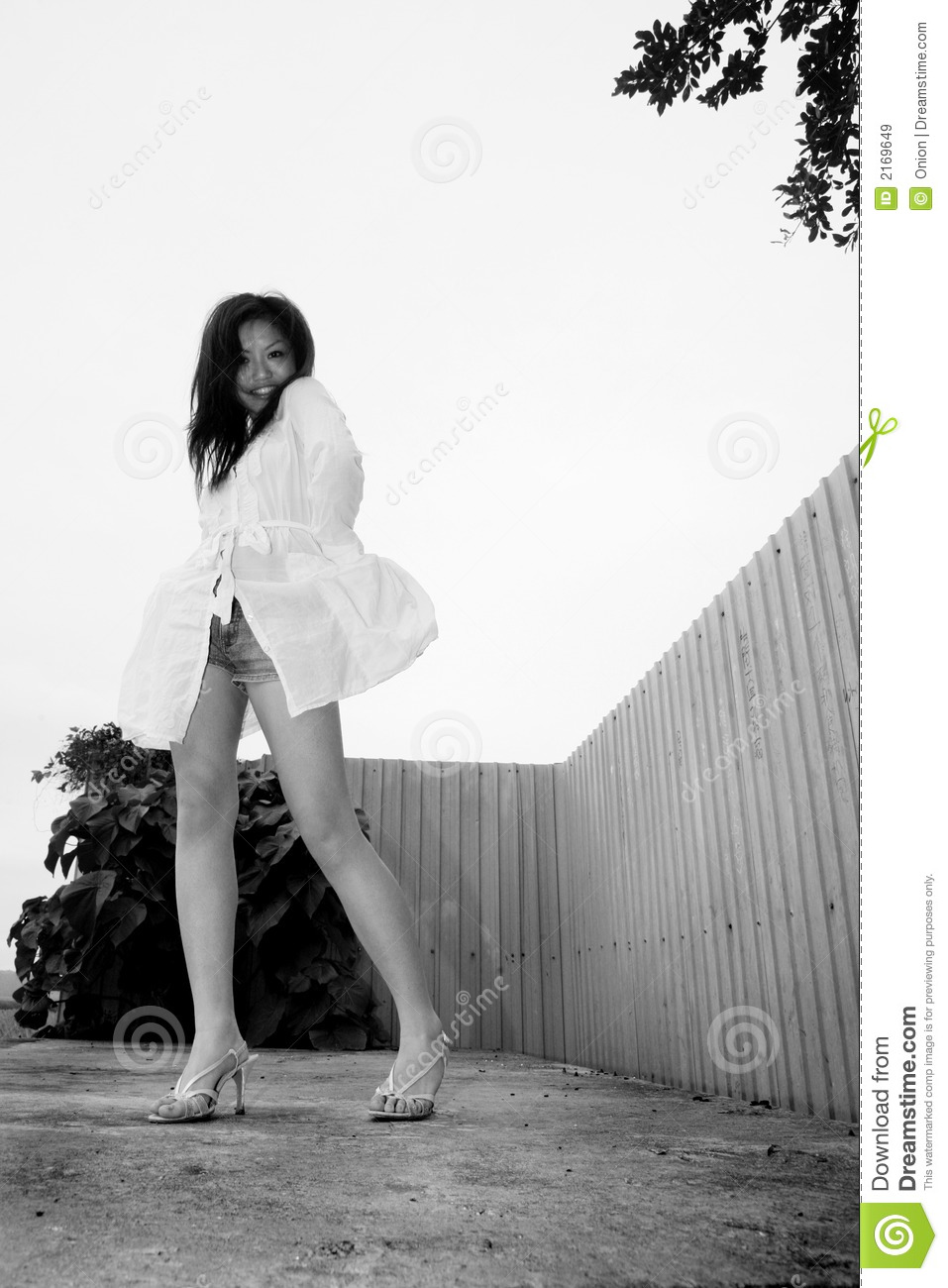 Asian Girl Standing With Heels Stock Image - Image 2169649-8629