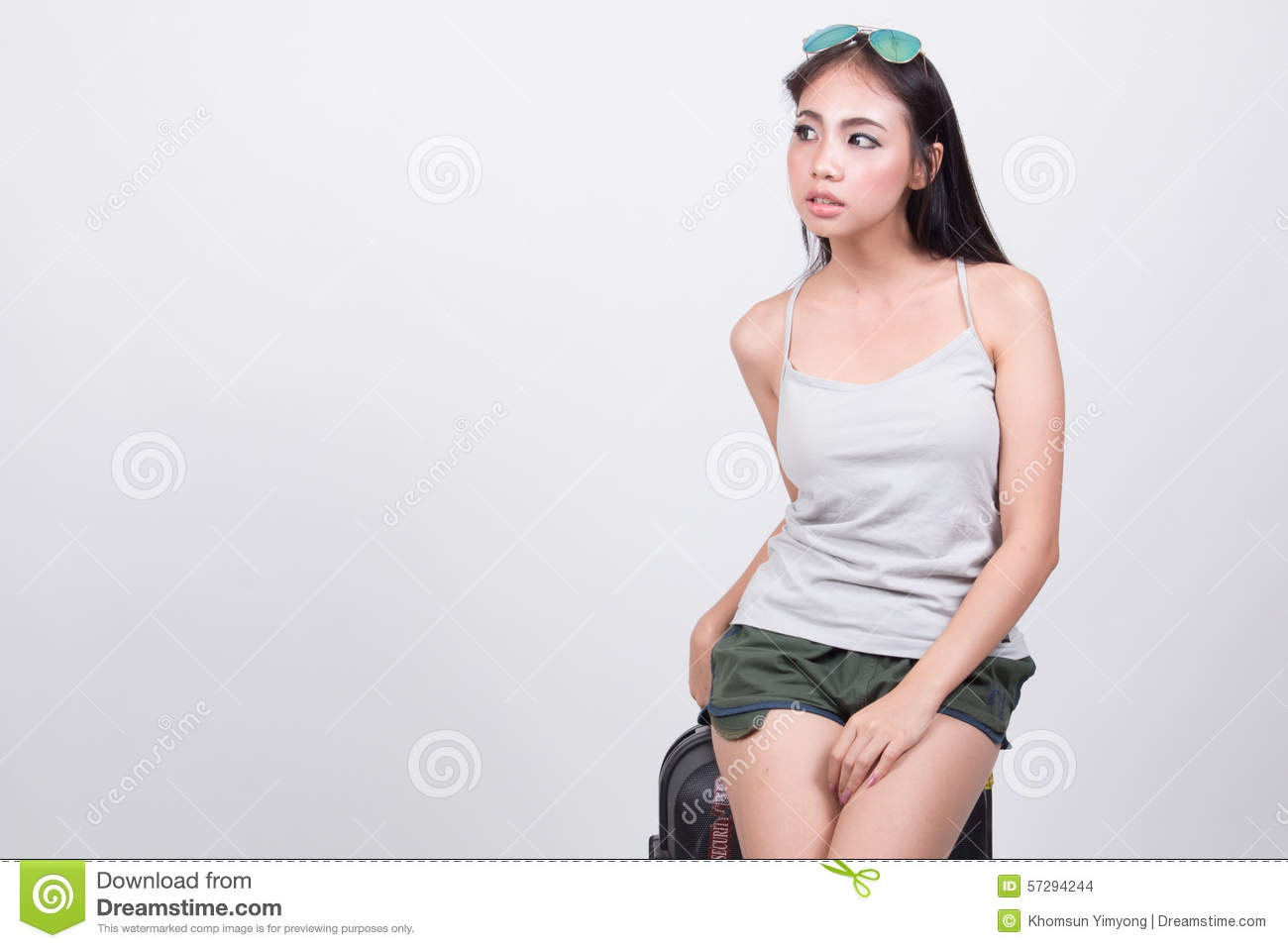 Asian girl in travel concept