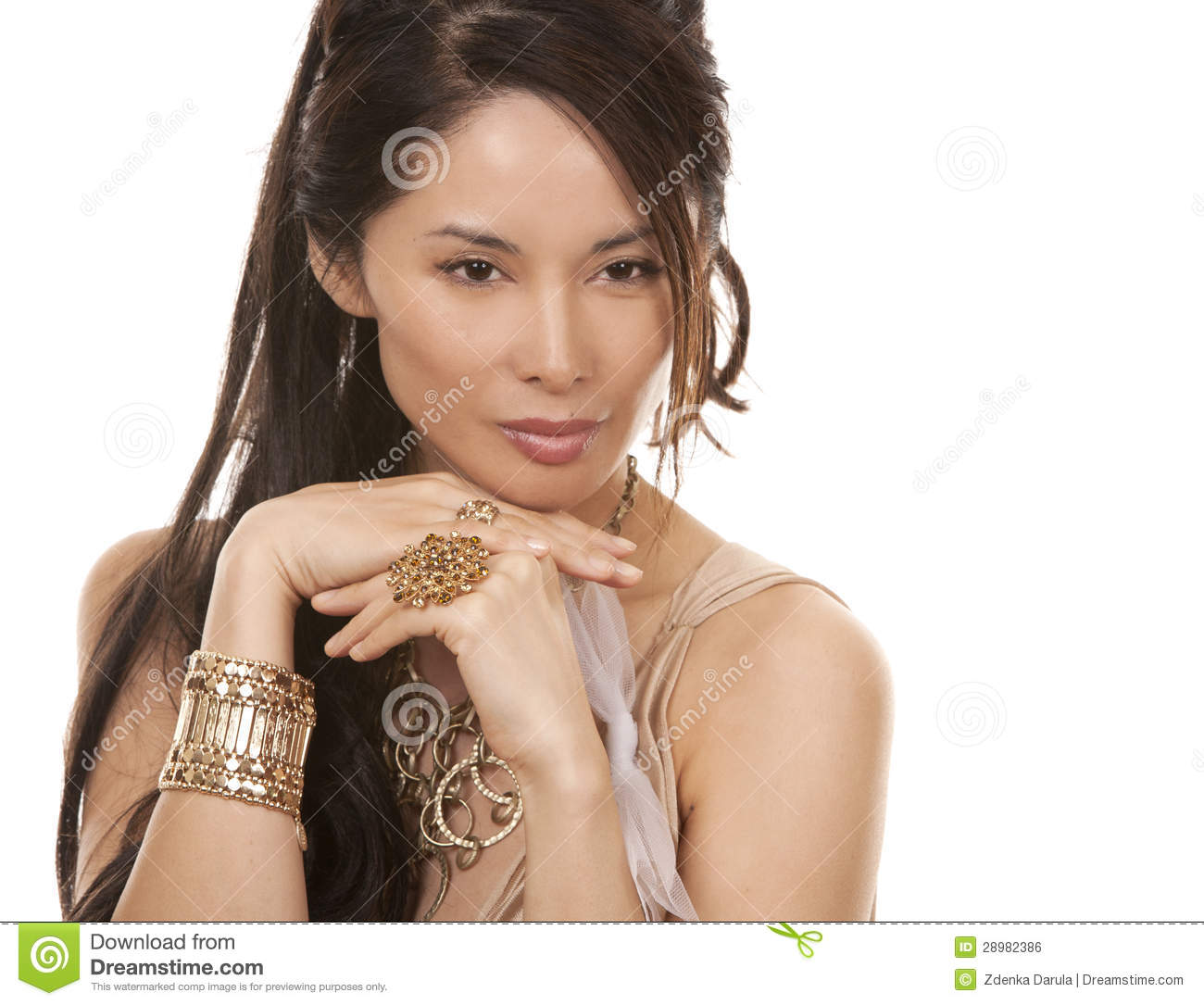 Asian Glamour Woman Royalty Free Stock Image Image 28982386