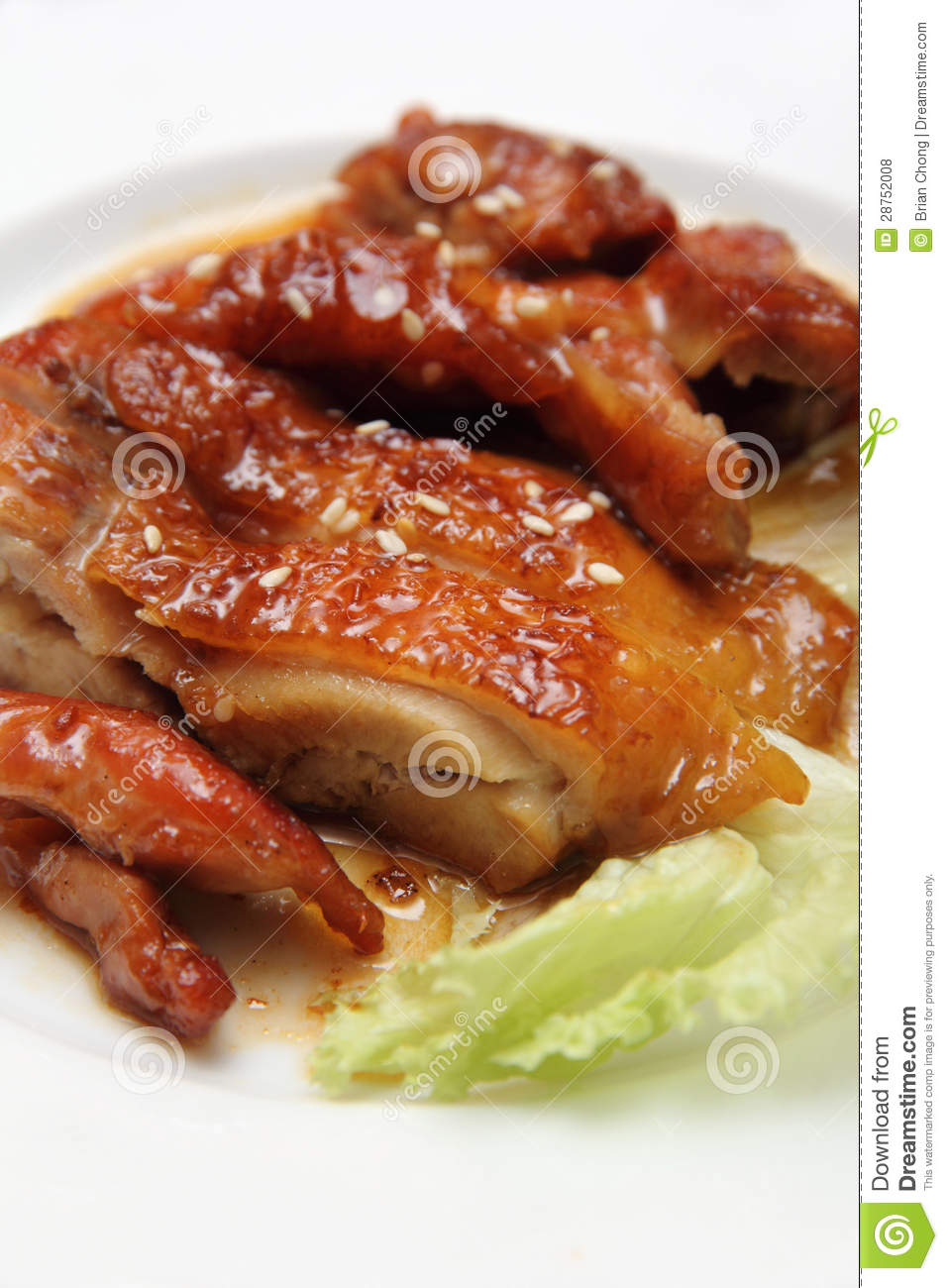 Asian Grilled Chicken Royalty Free Stock Photos - Image: 28752008