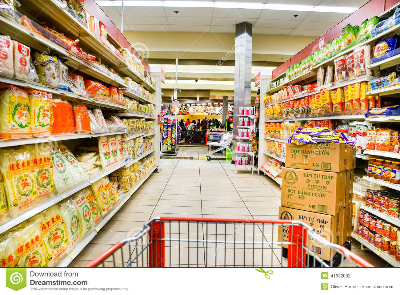 Asian grocery noodle aisle editorial photography  Image of