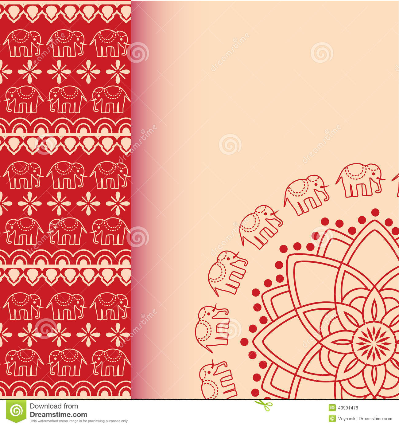 asian henna elephants red and cream border design with Indian Elephant Clip Art Black and White indian elephant clipart free