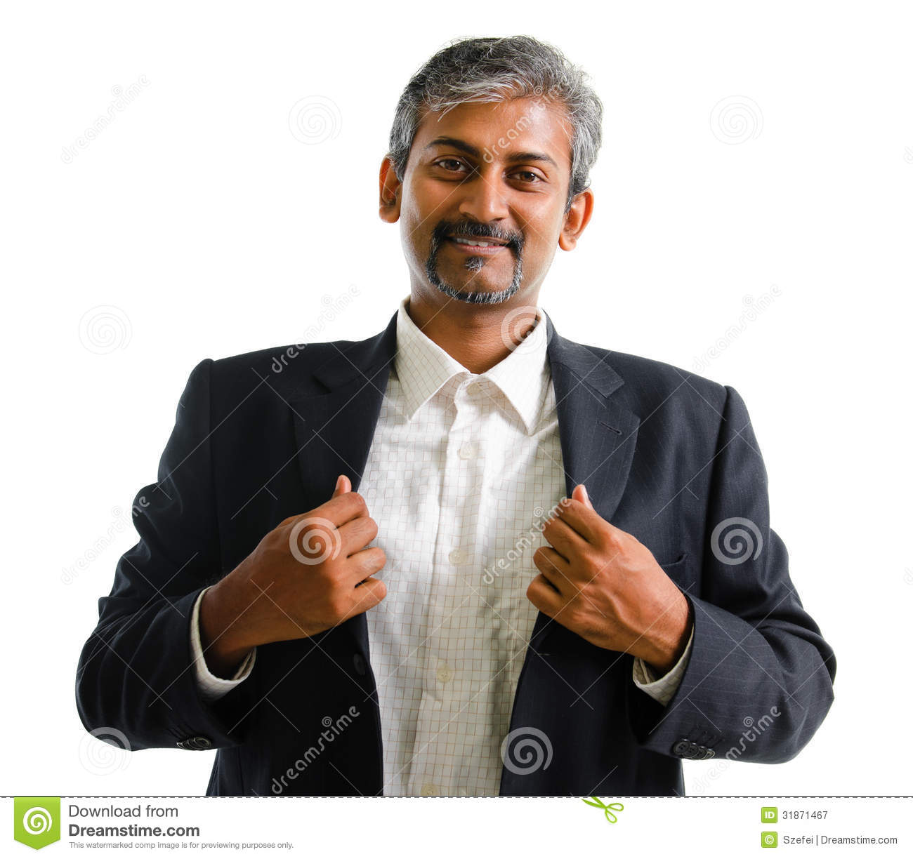 handsome asian man smiling in a black suit