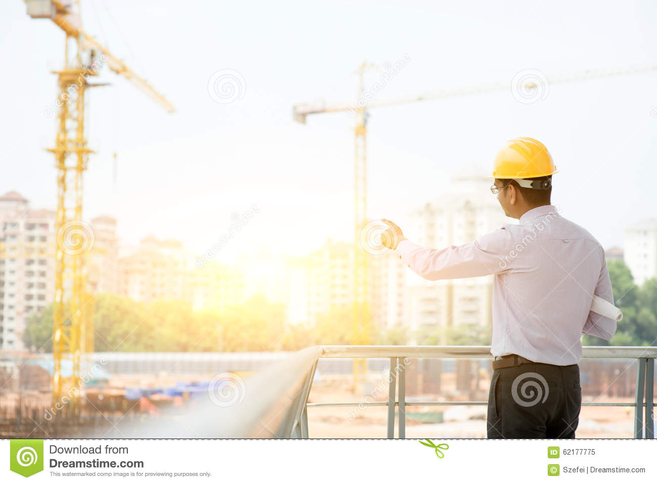 57ee4497de1 Asian Indian Male Site Contractor Engineer Stock Image - Image of ...