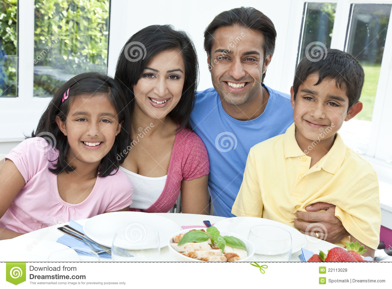 Indian Happy Family Stock Photos and Images