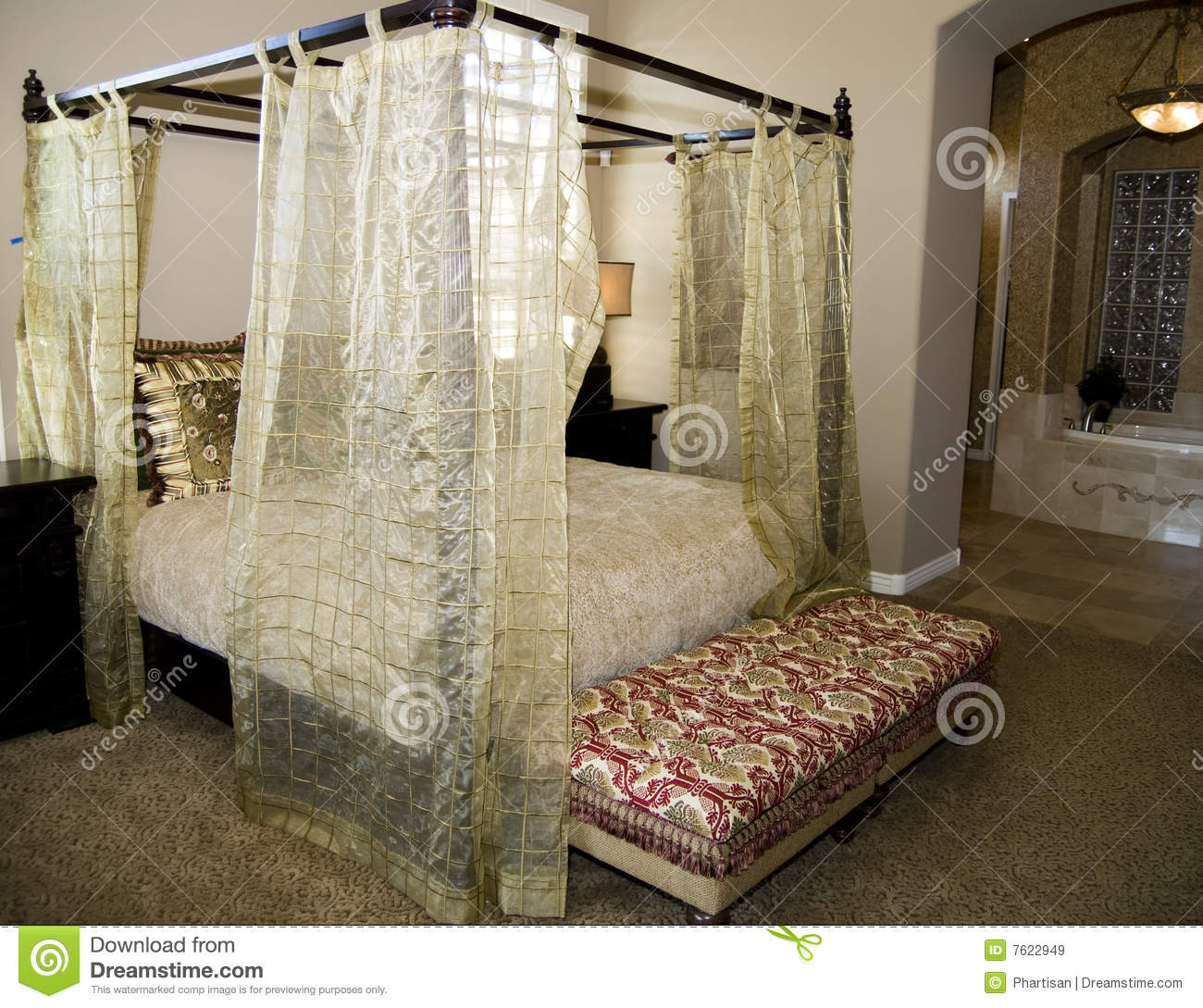 Download Asian Inspired Bedroom Stock Image. Image Of Life, Design   7622949