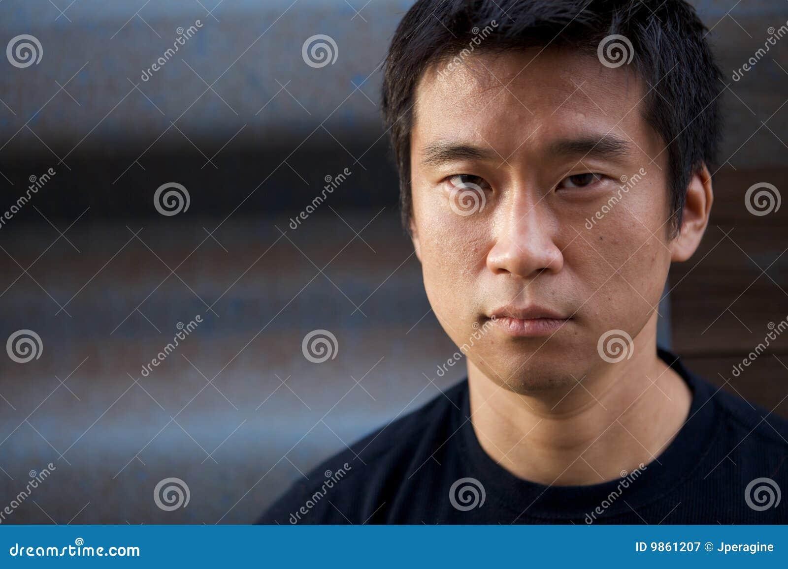 Asian interestng man