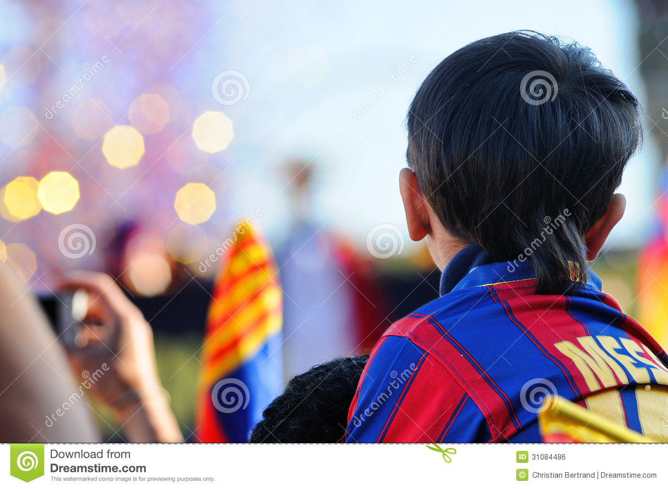 buy popular dad3d 631ba An Asian Kid With Lionel Messi's Shirt, Awaits Hopefully The ...