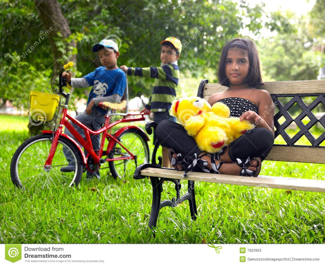 Asian Kids Playing In The Park Stock Photos - Image: 7922953