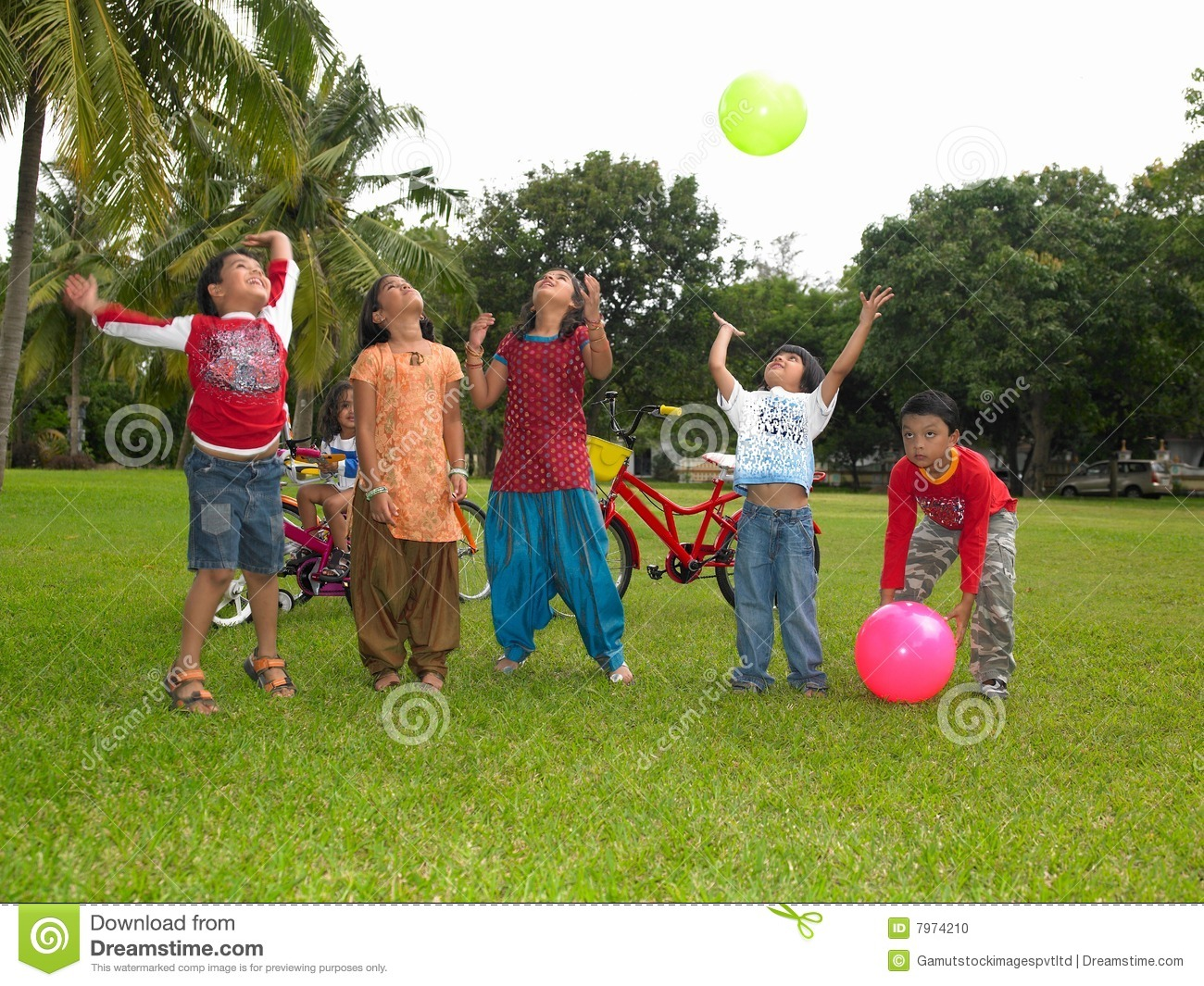 Asian Kids Playing In The Park Stock Photo - Image of ...