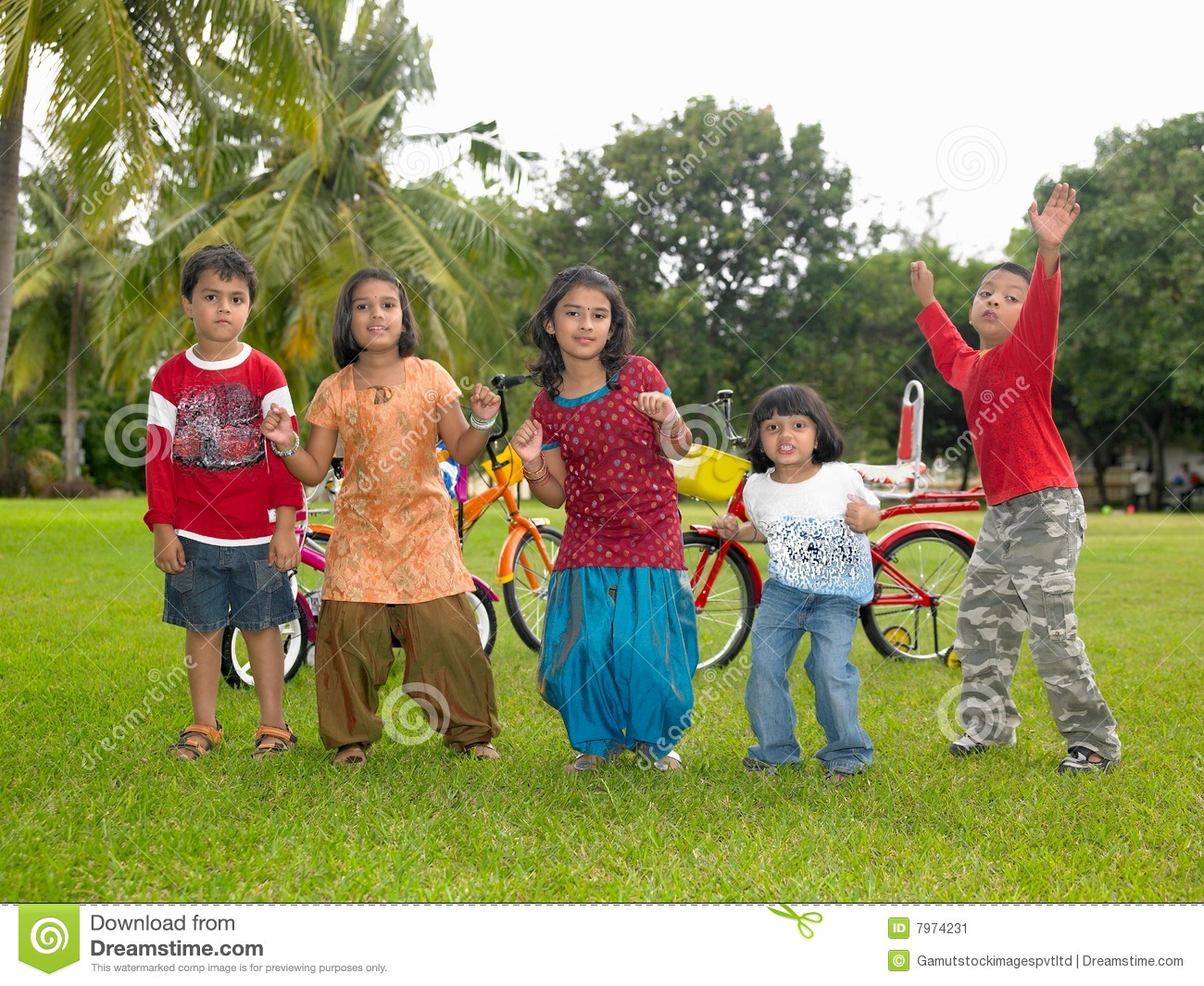 Asian Kids Playing In The Park Stock Image - Image: 7974231