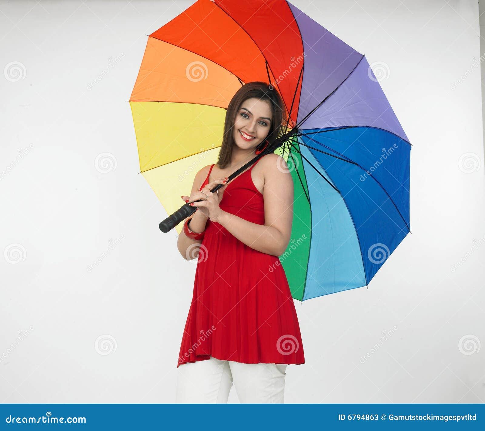 Asian Lady With An Umbrella Stock Photos Image 6794863