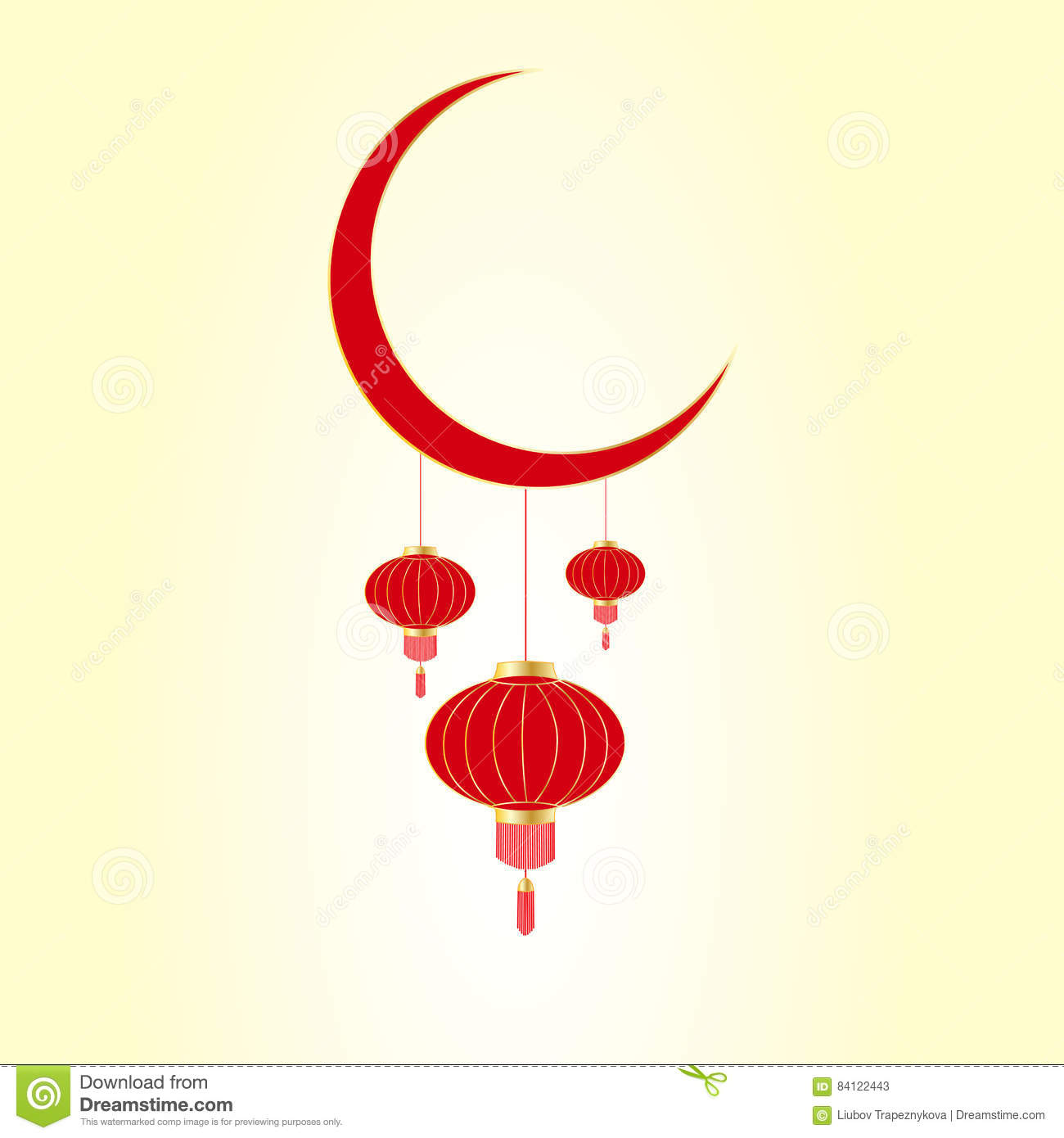 Moonstock Festival 2020 Asian Lunar New Year Festival. Red Chinese Lanterns Hanging From
