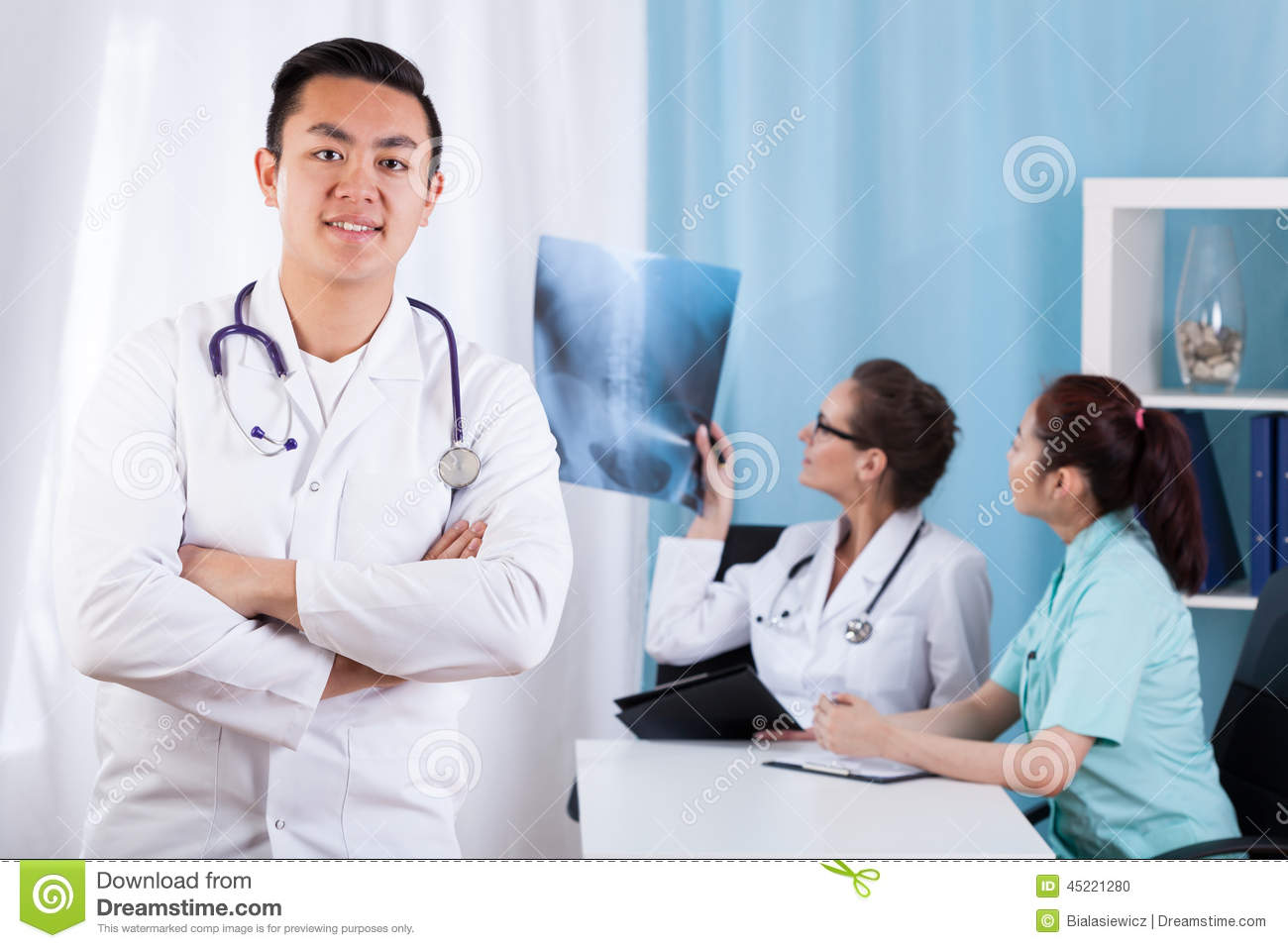 Asian male doctor remarkable