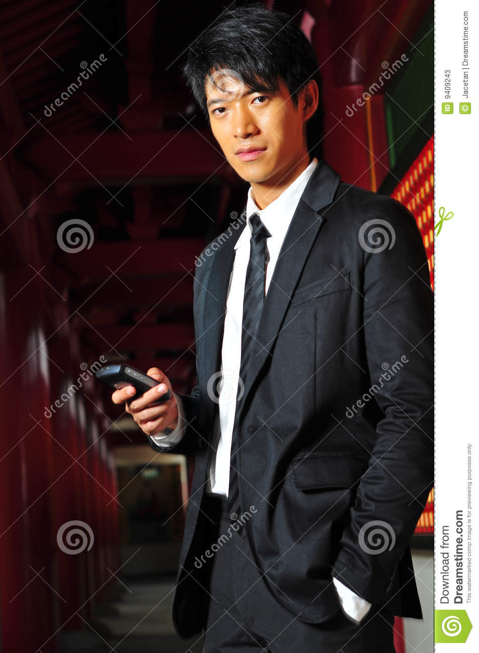 Asian man in suit