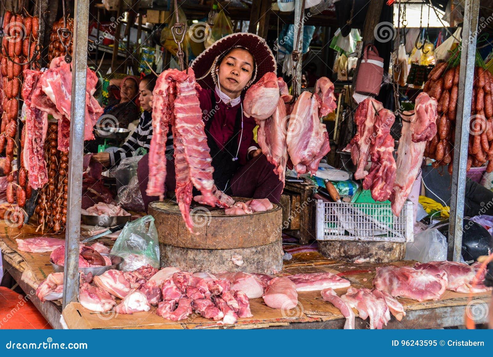Asian market meat
