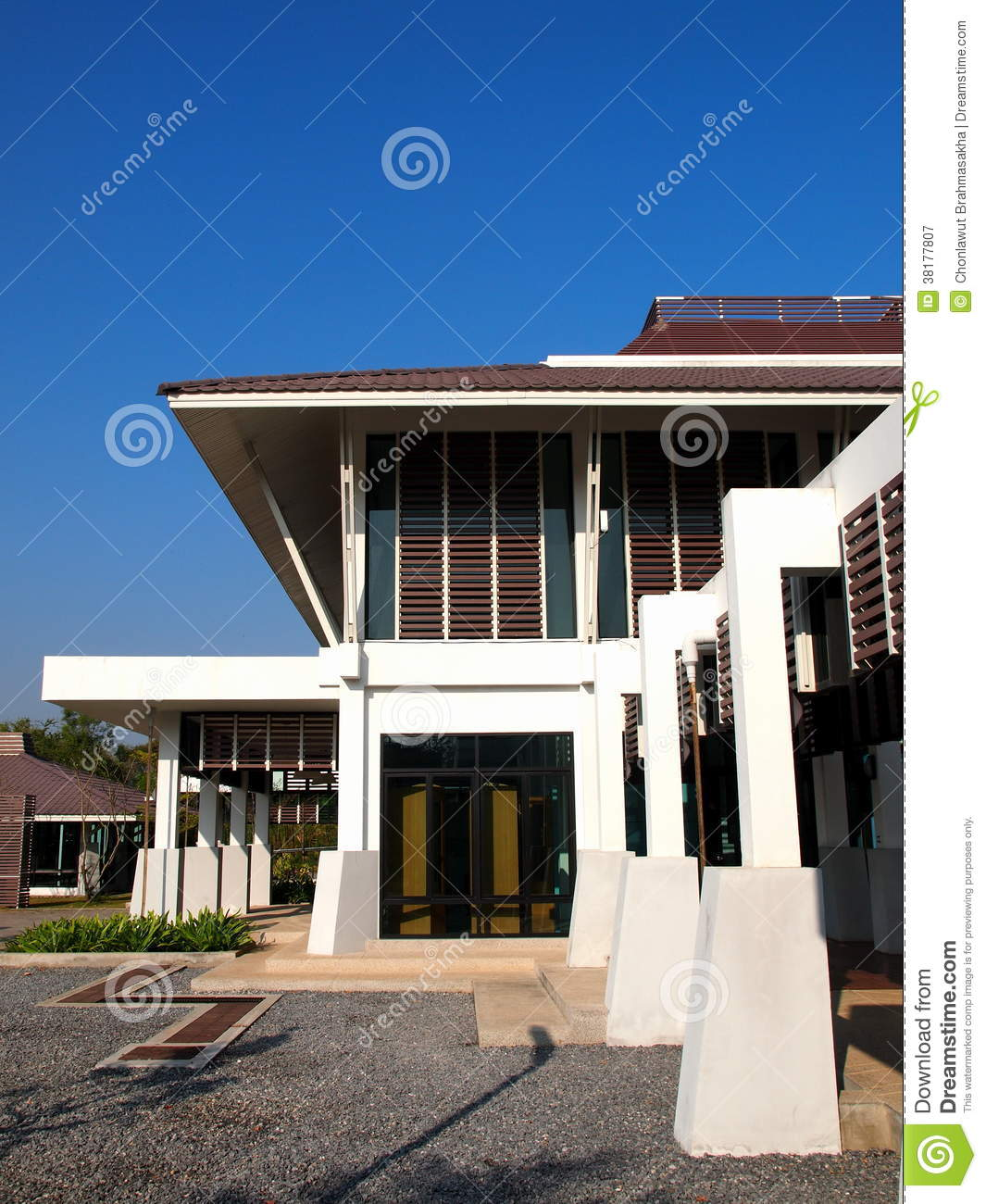 Asian Modern House Architectural Design Royalty Free Stock