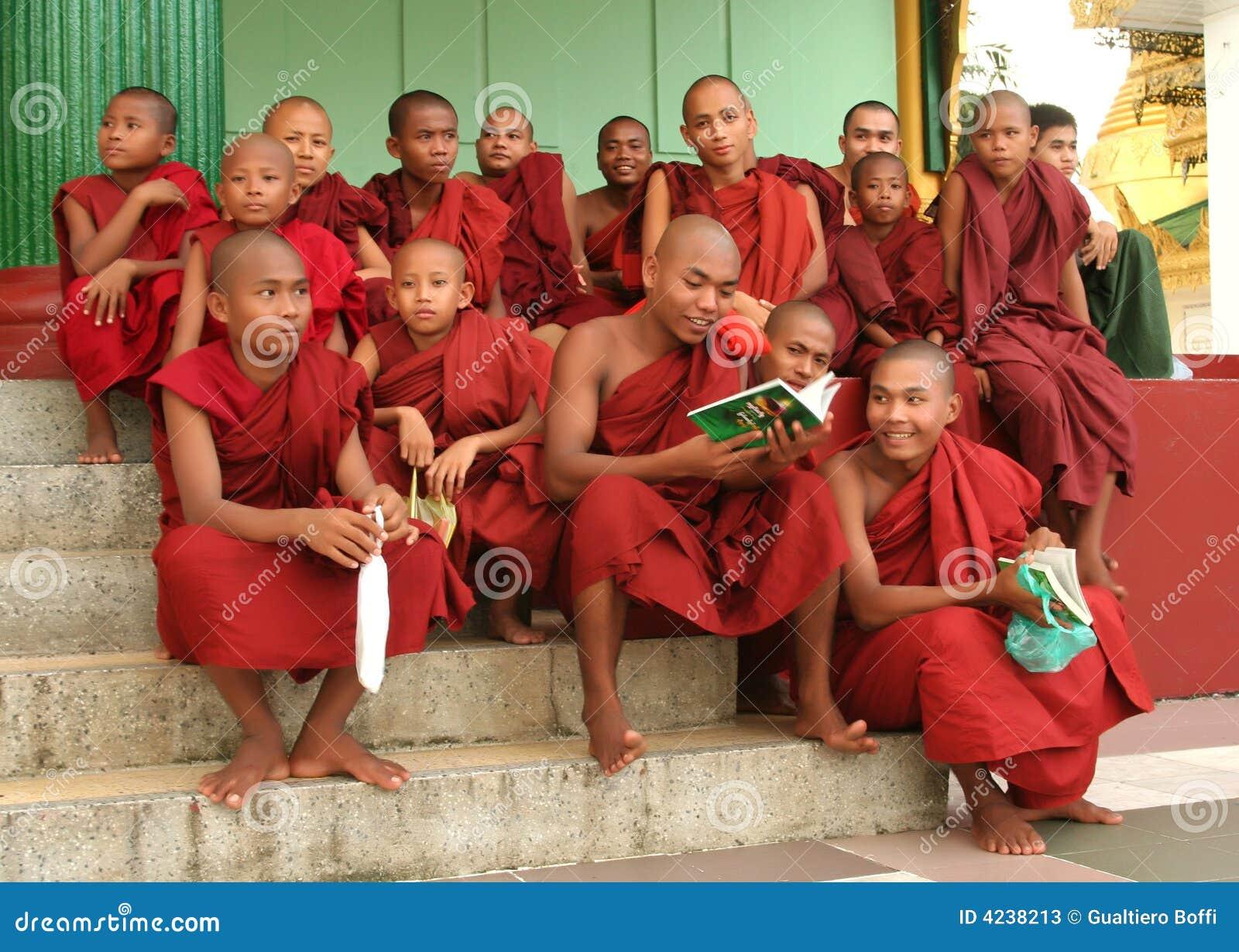 Asian monks