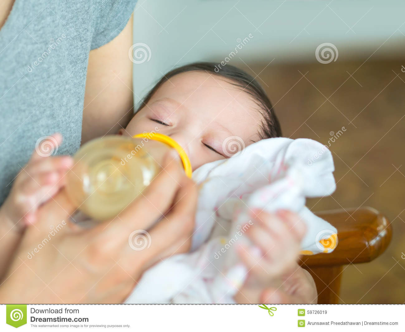 Baby Drinking Milk Only While Sleeping