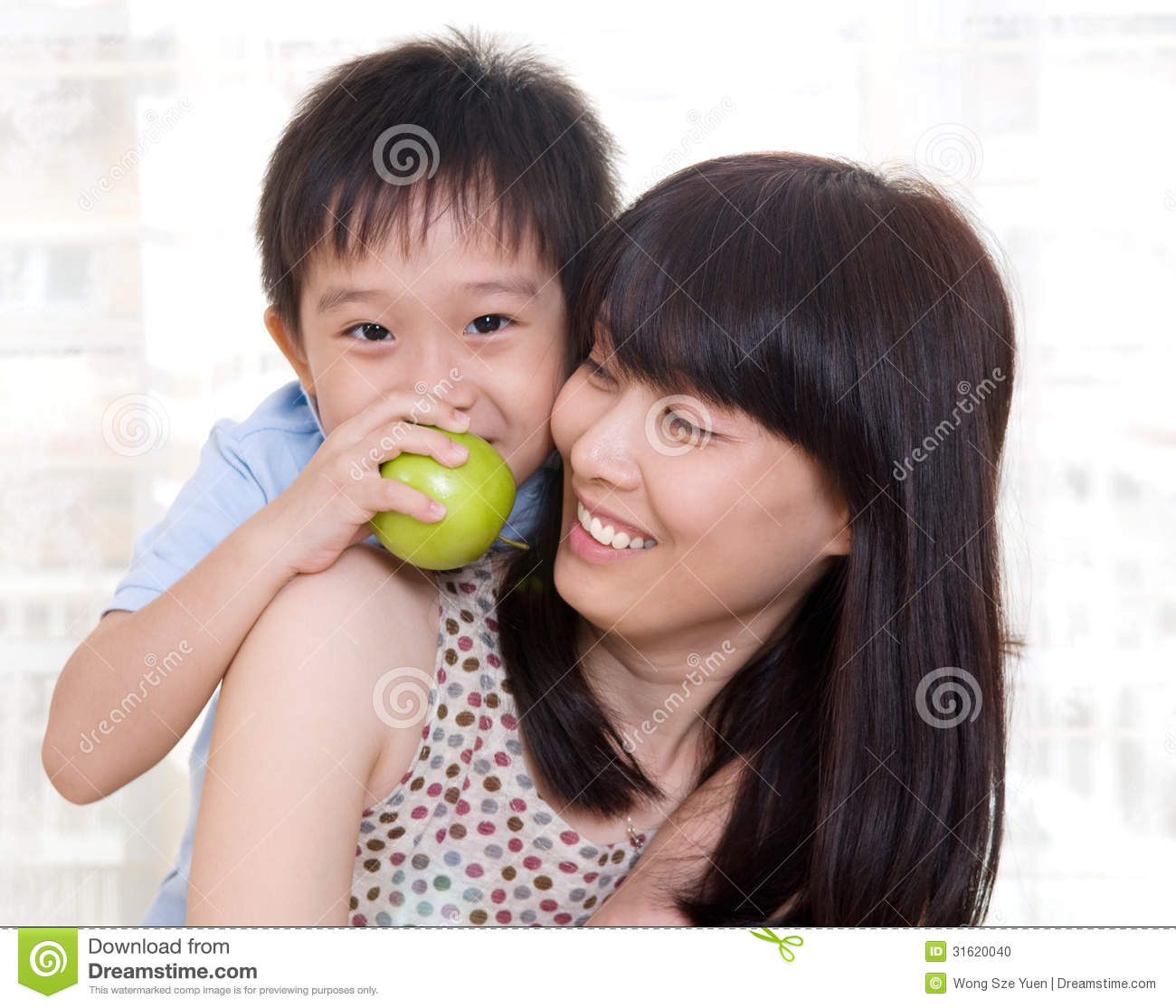Asian moms and boys
