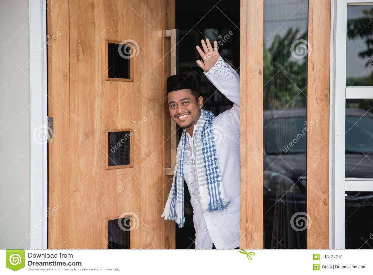 Muslim Man Greeting Stock Photo Image Of Islam Greeting 118134210
