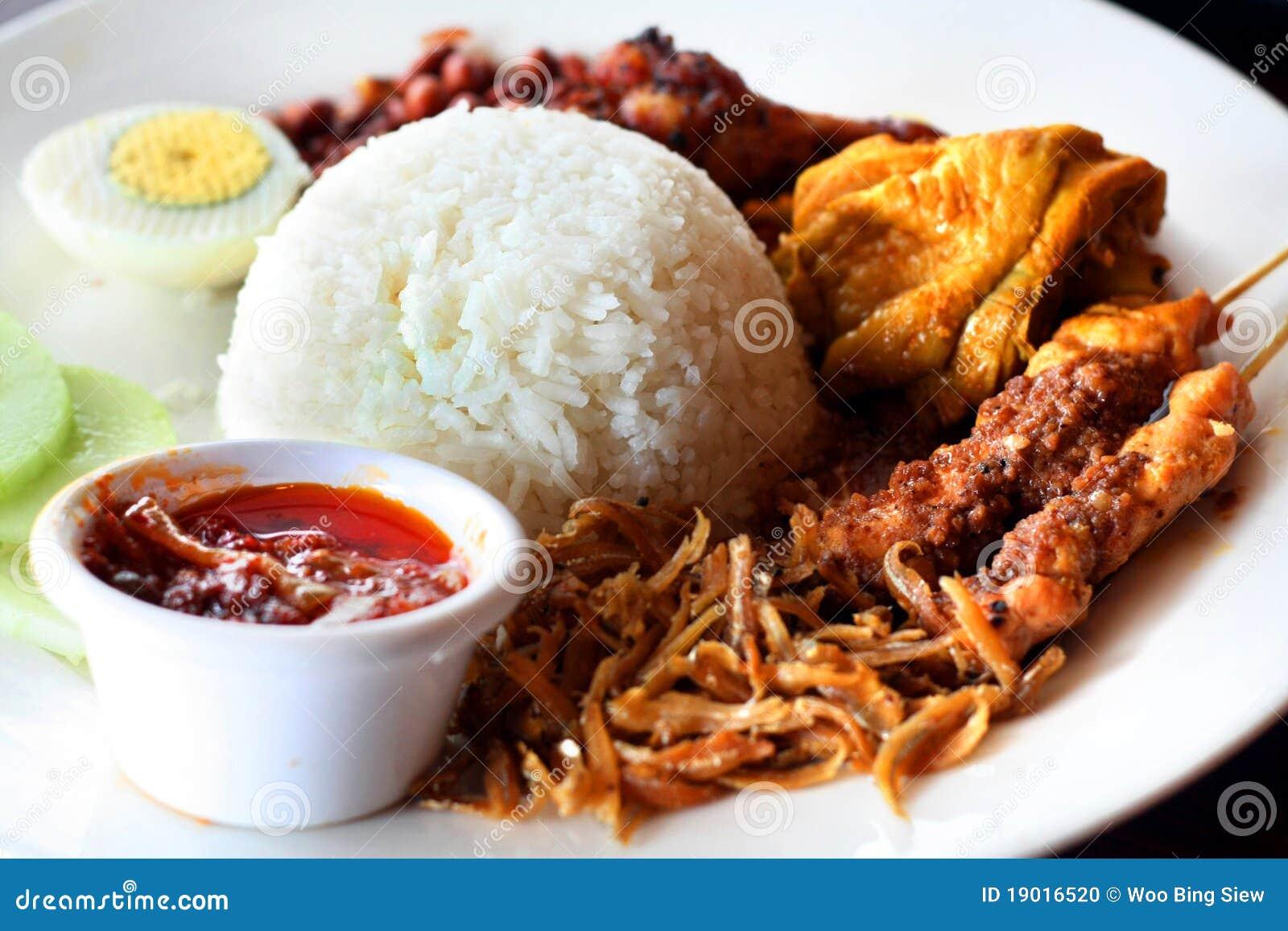 Asian Nasi lemak
