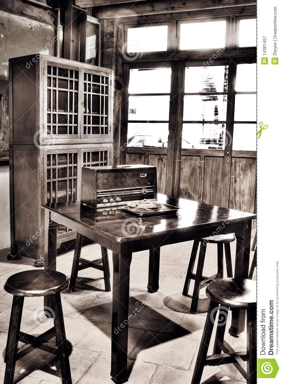 asian old house interior royalty free stock photography - image