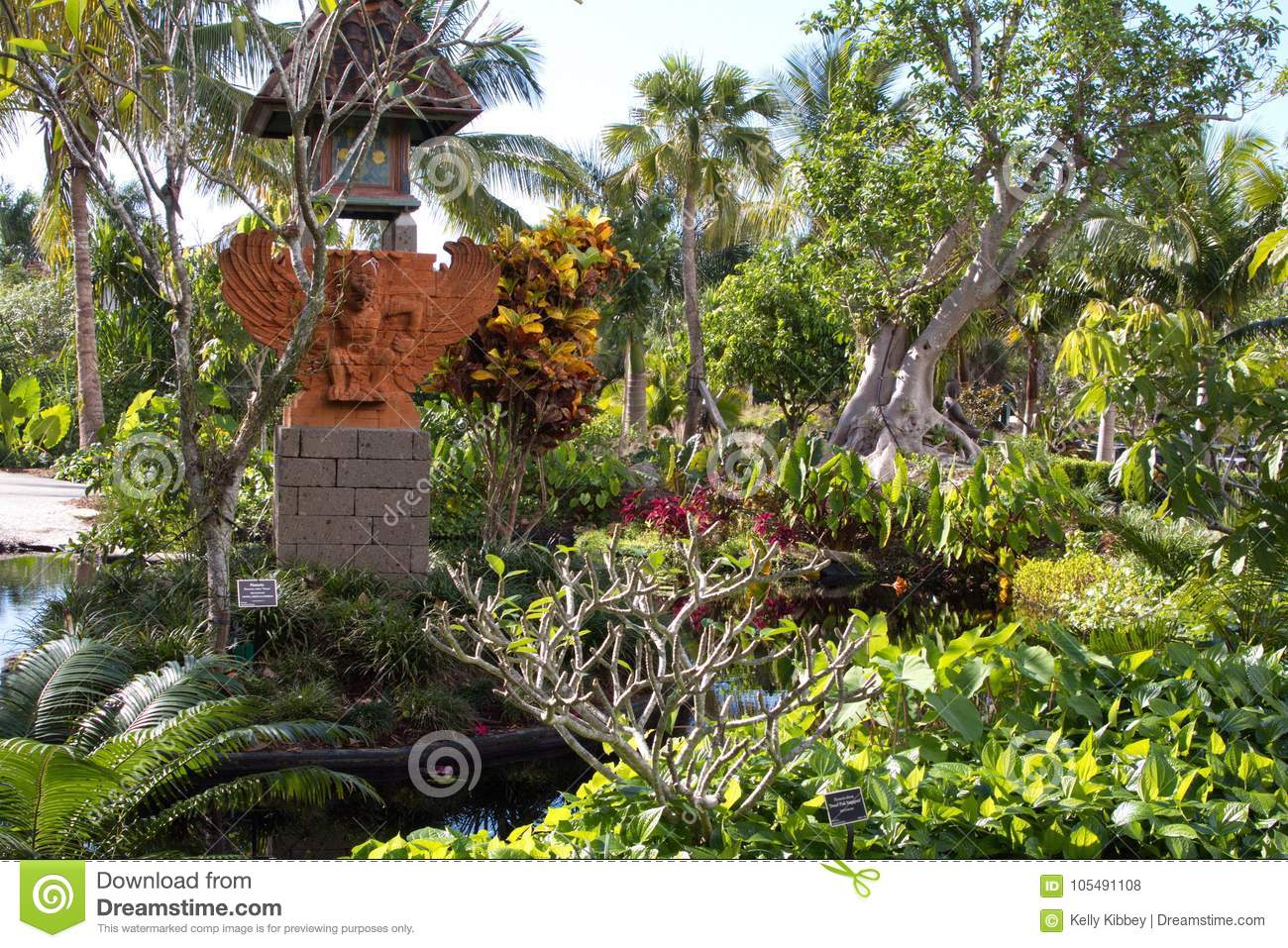 Download Asian Pagoda Statue At Sunken Gardens In St Petersburg Florida  Editorial Stock Photo   Image