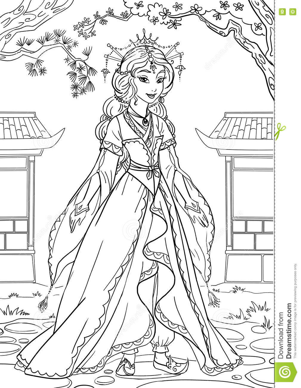japanese princess coloring pages - photo#8