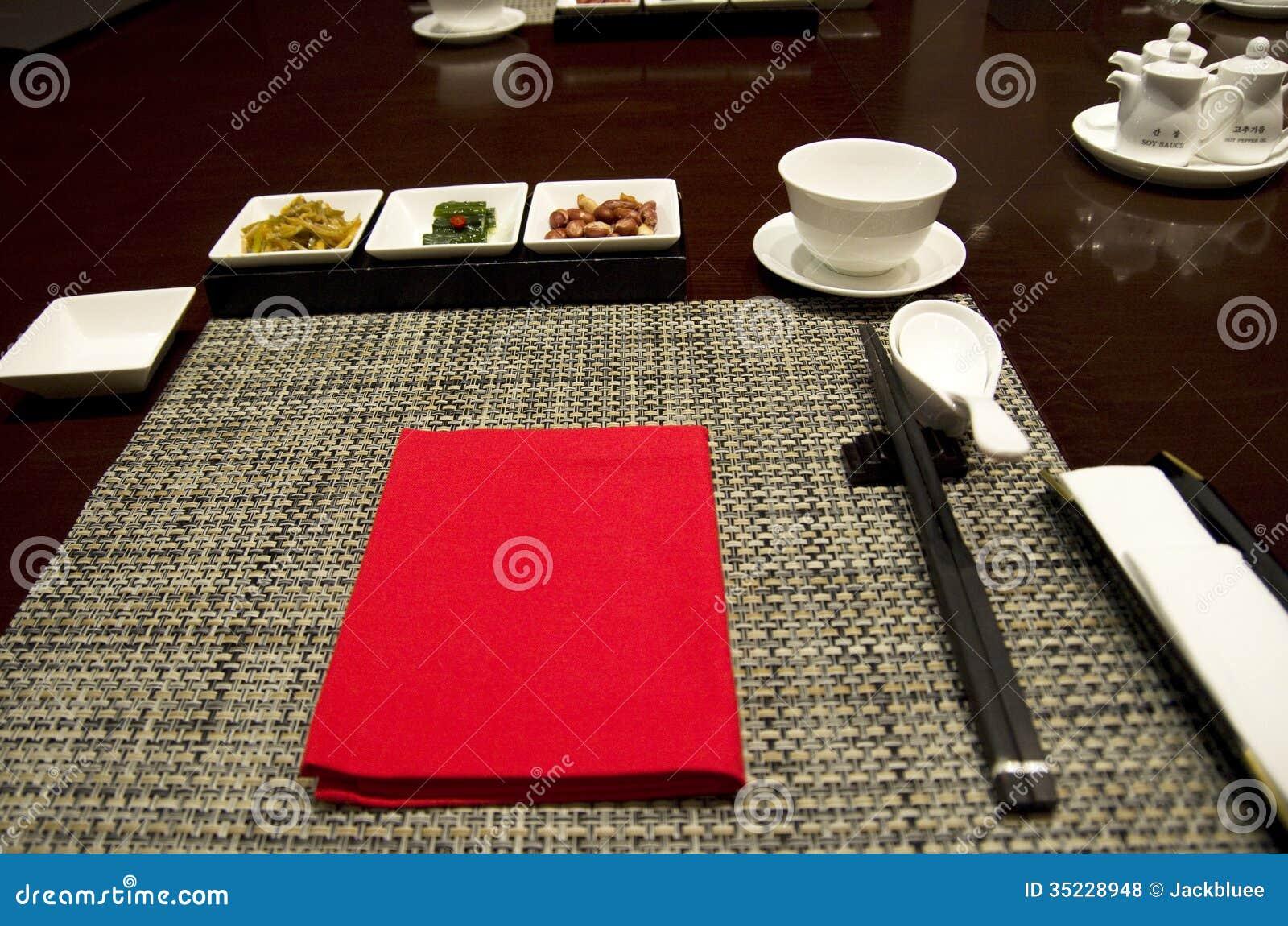 Asian Restaurant Table Setting