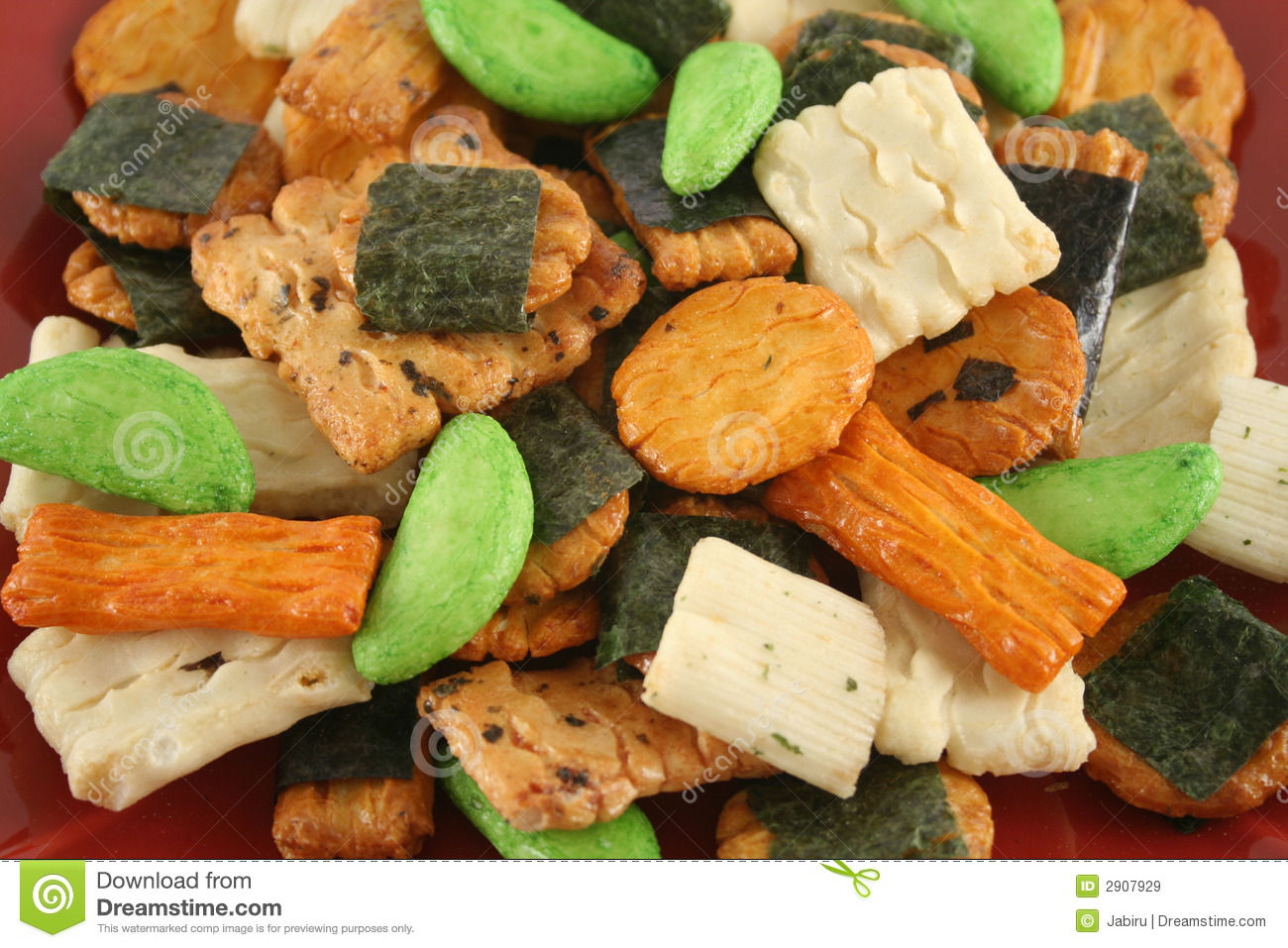 Asian Rice Crackers 3 Royalty Free Stock Images - Image: 2907929