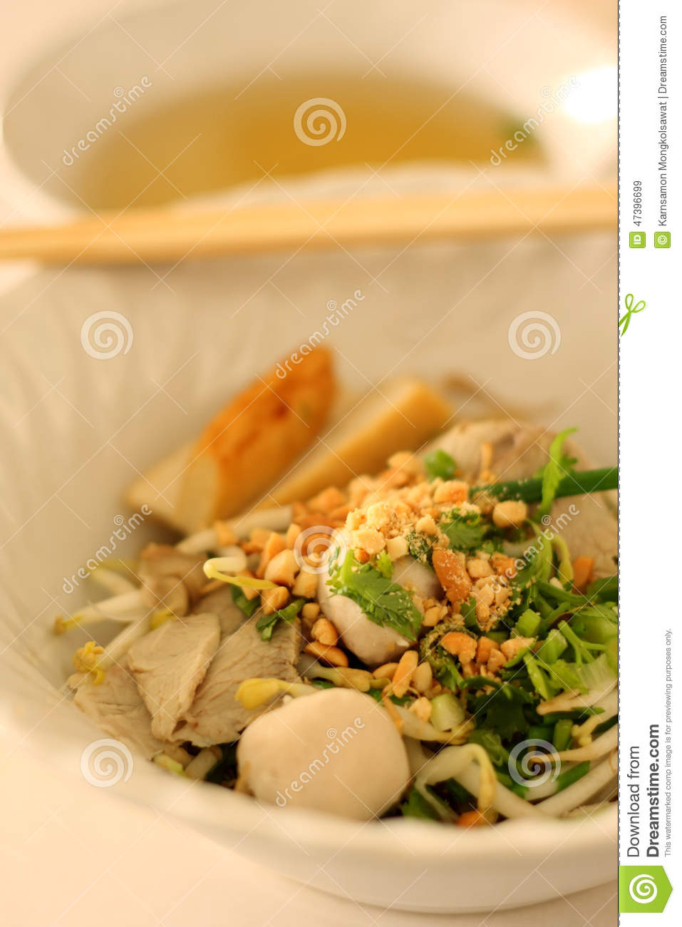 Asian rice noodle recipe stock photo image 47396699 for Rice noodle fish