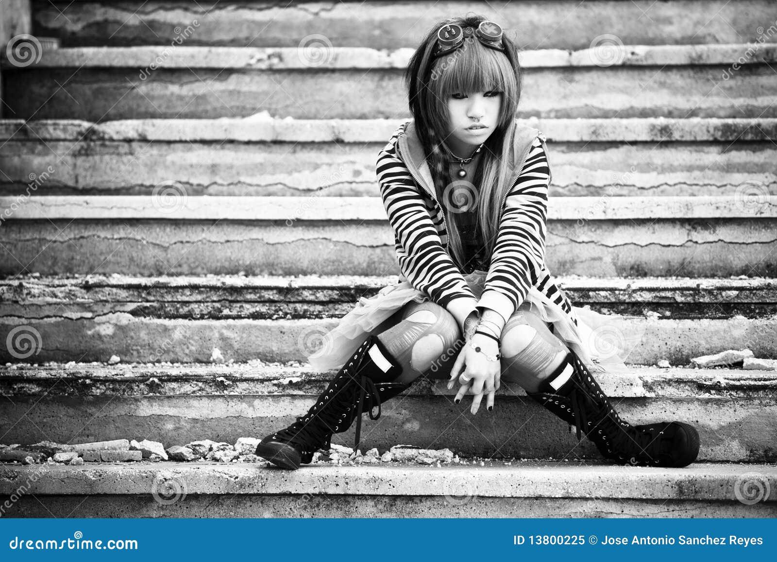 Asian sad lolita