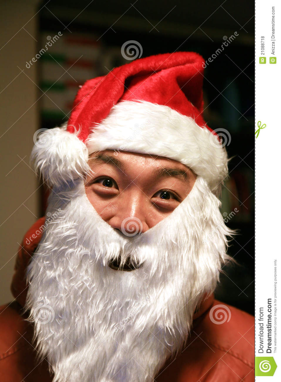 asian santa claus stock photo image of santa claus. Black Bedroom Furniture Sets. Home Design Ideas