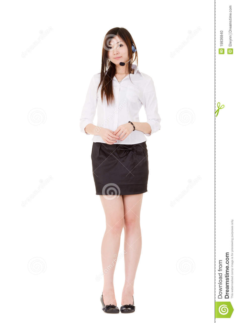asian secretary woman stock photo
