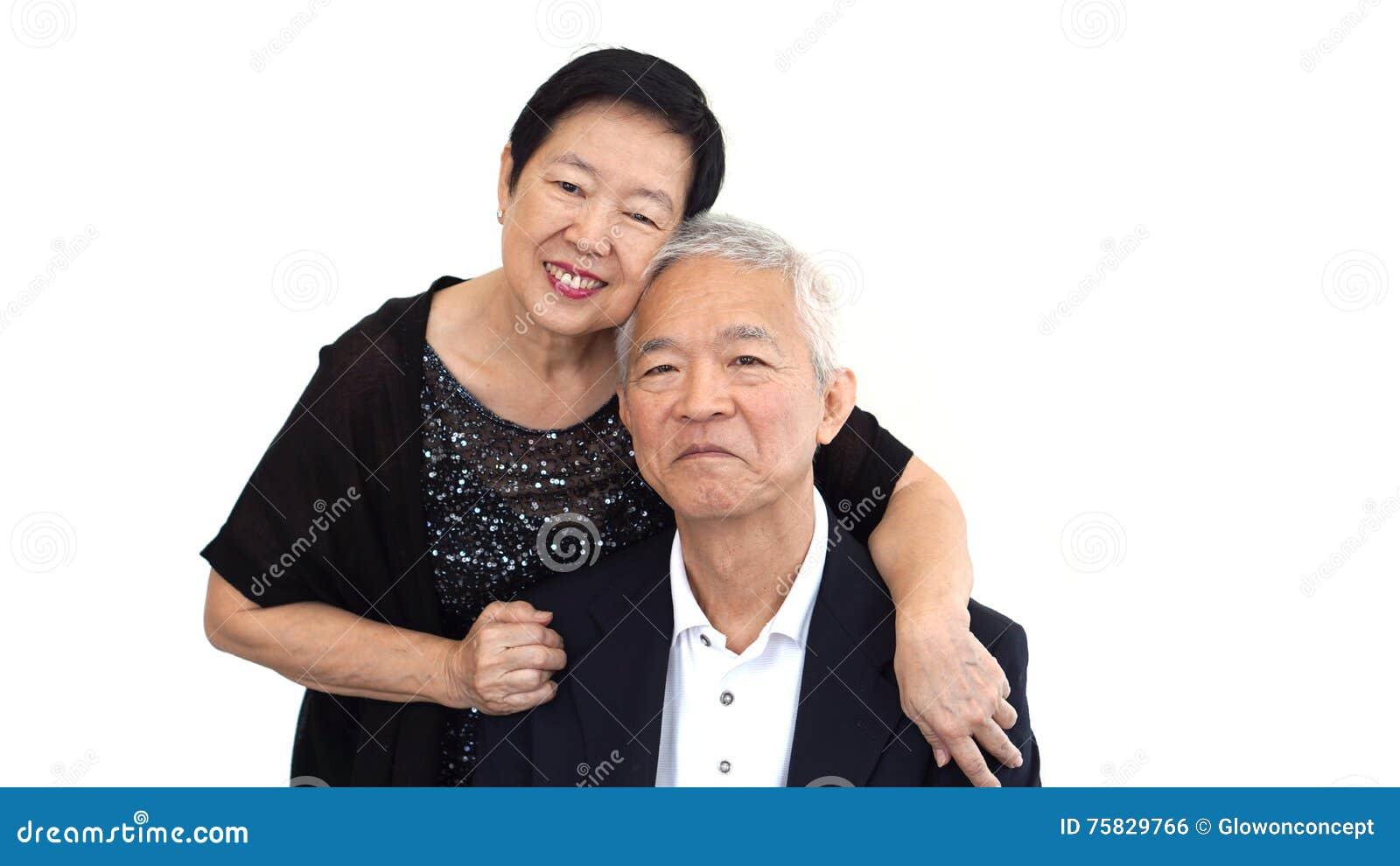 Asian senior partner in formal attire. Love life family business