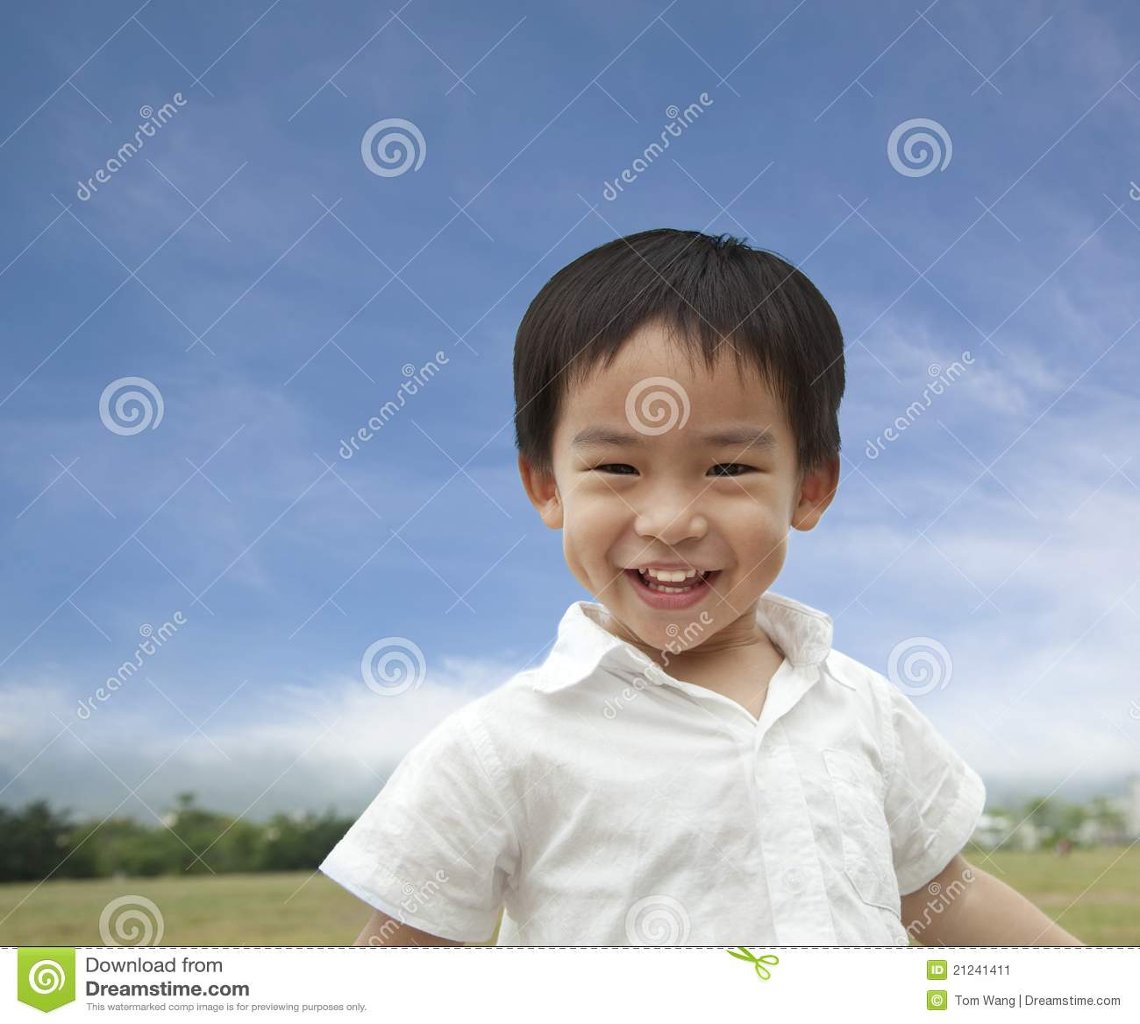 Asian smiling boy