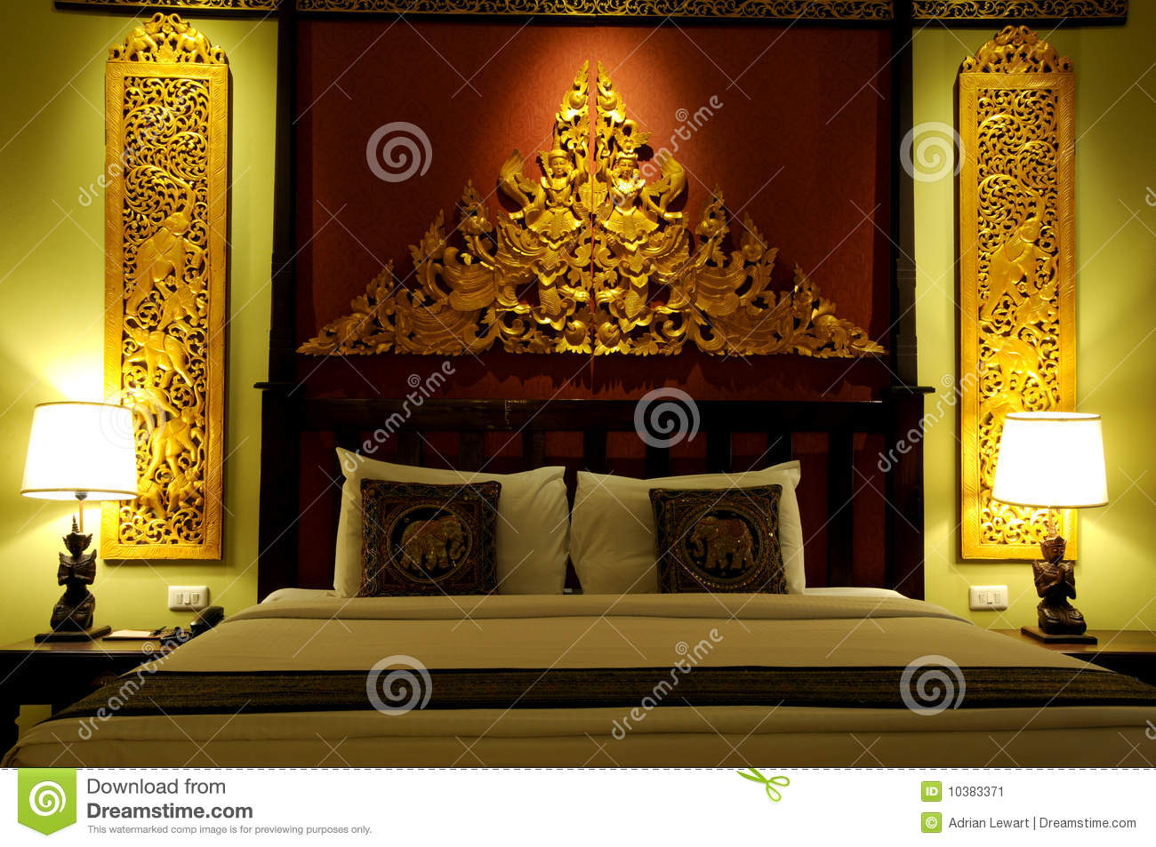 Asian style bedroom stock image image 10383371 for Well decorated bedroom