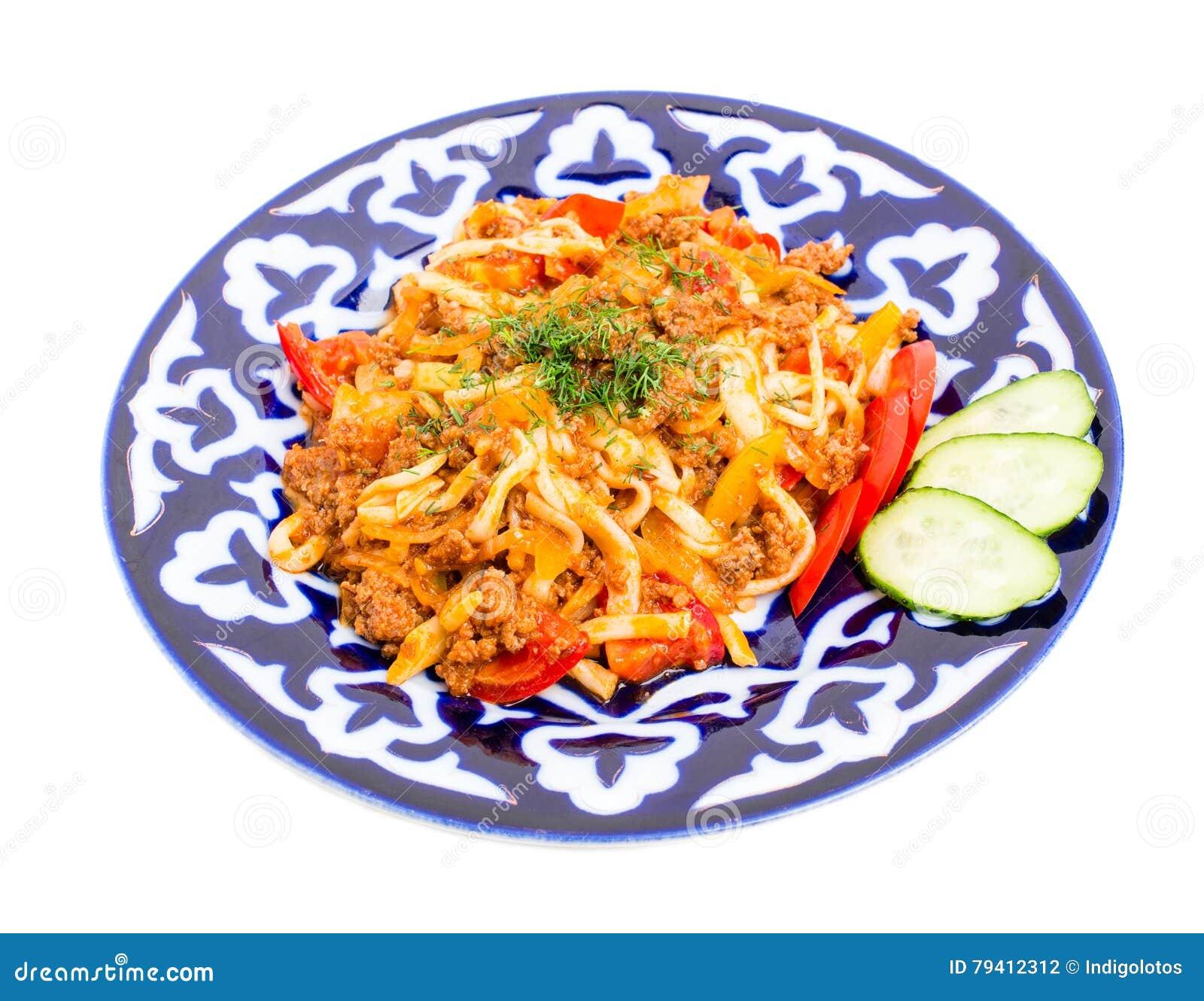 Asian noodles baked foto 758