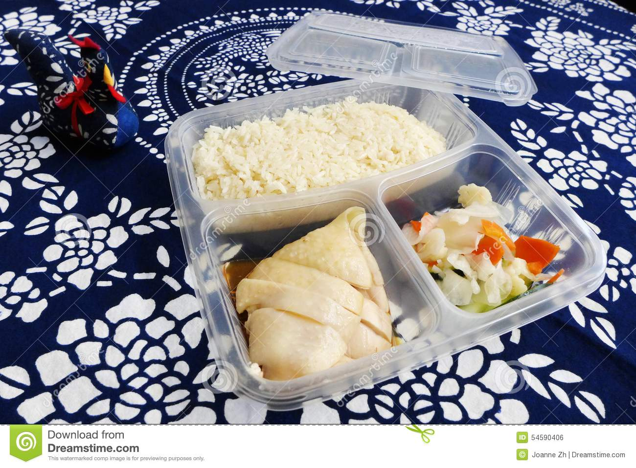 Chicken rice asian food to go stock photo image 54590406 for Cuisine to go