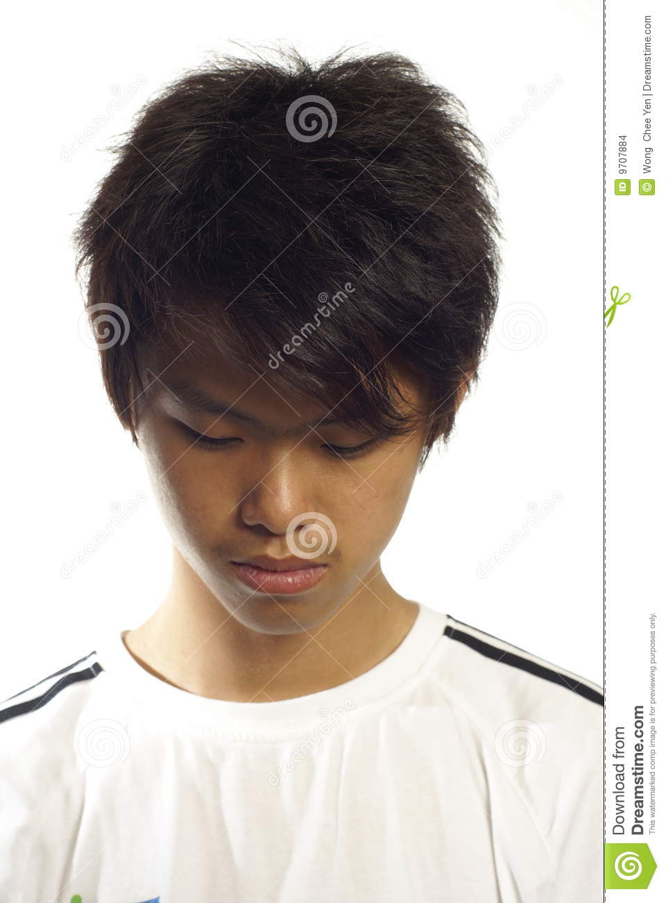Asian Teen Guy Looking Down Stock Images - Image 9707884-1316