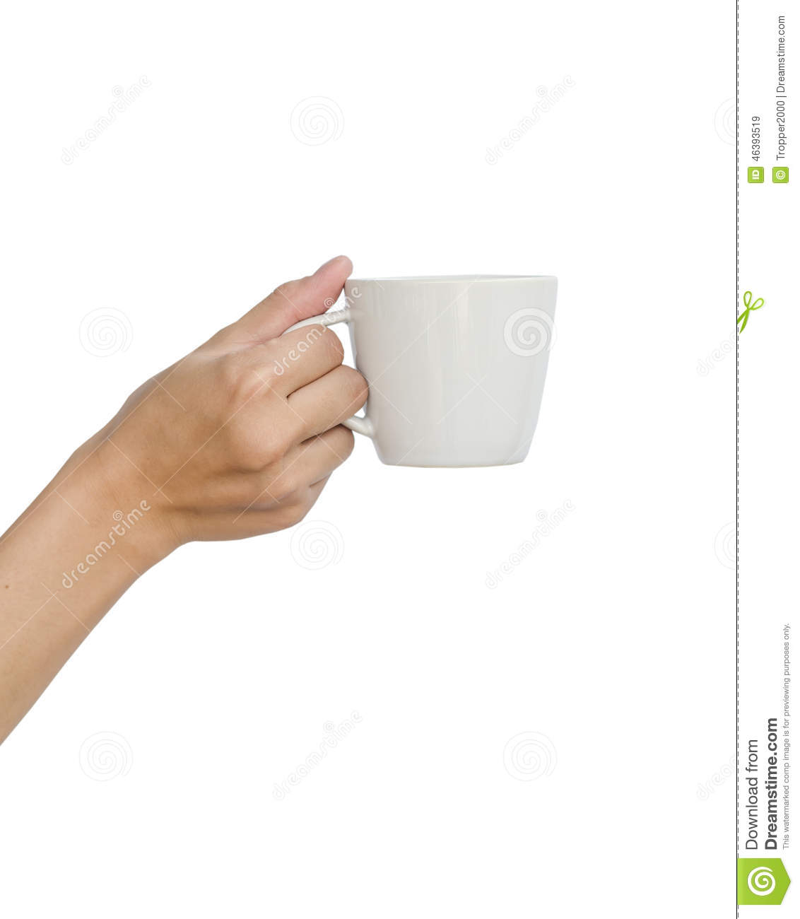 Asian Teen Hand And Coffee Cup Stock Photo Image 46393519