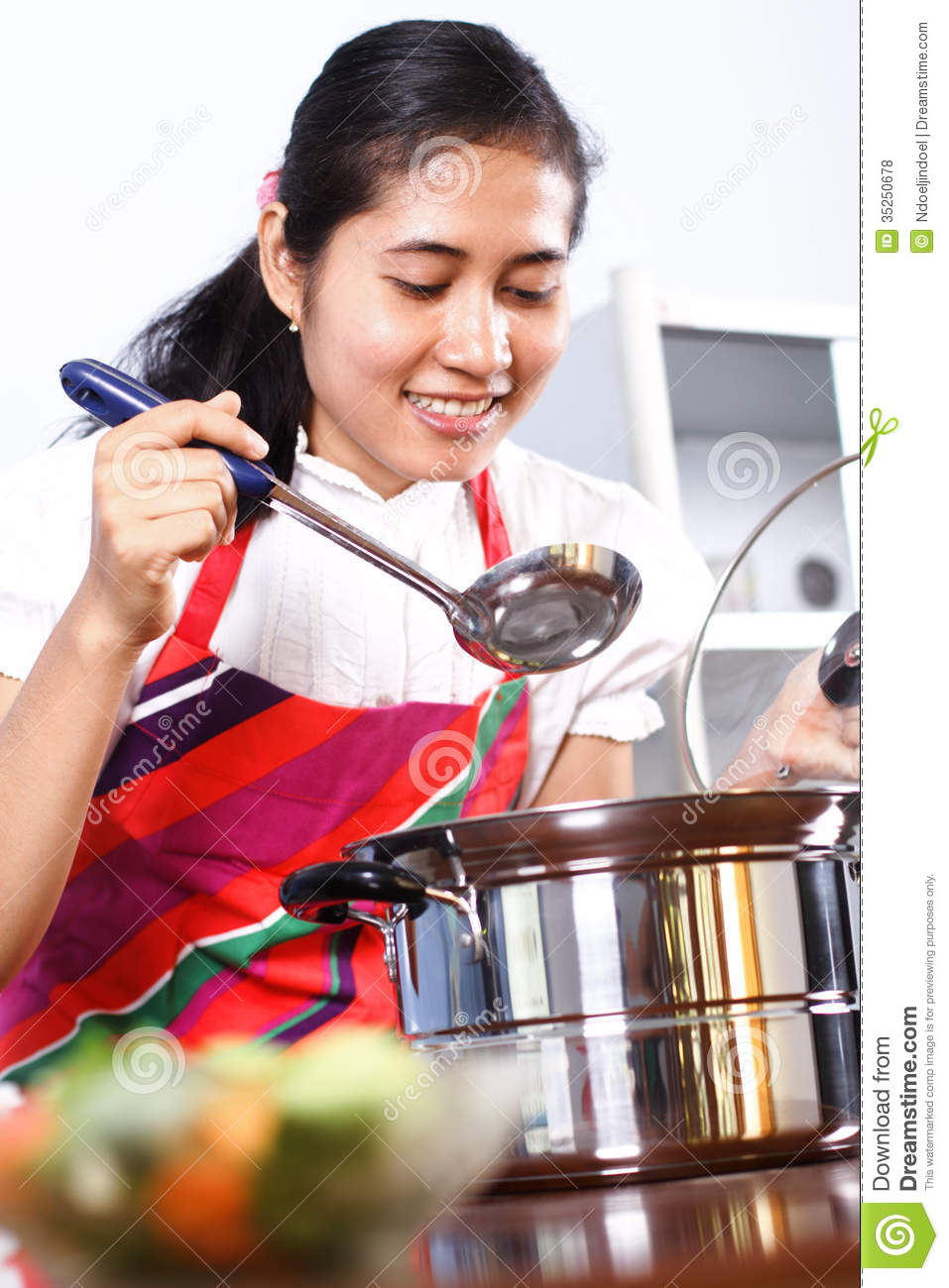 Asian Woman Cooking 89