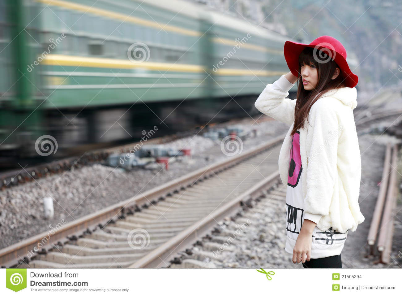 Asian On A Train 37