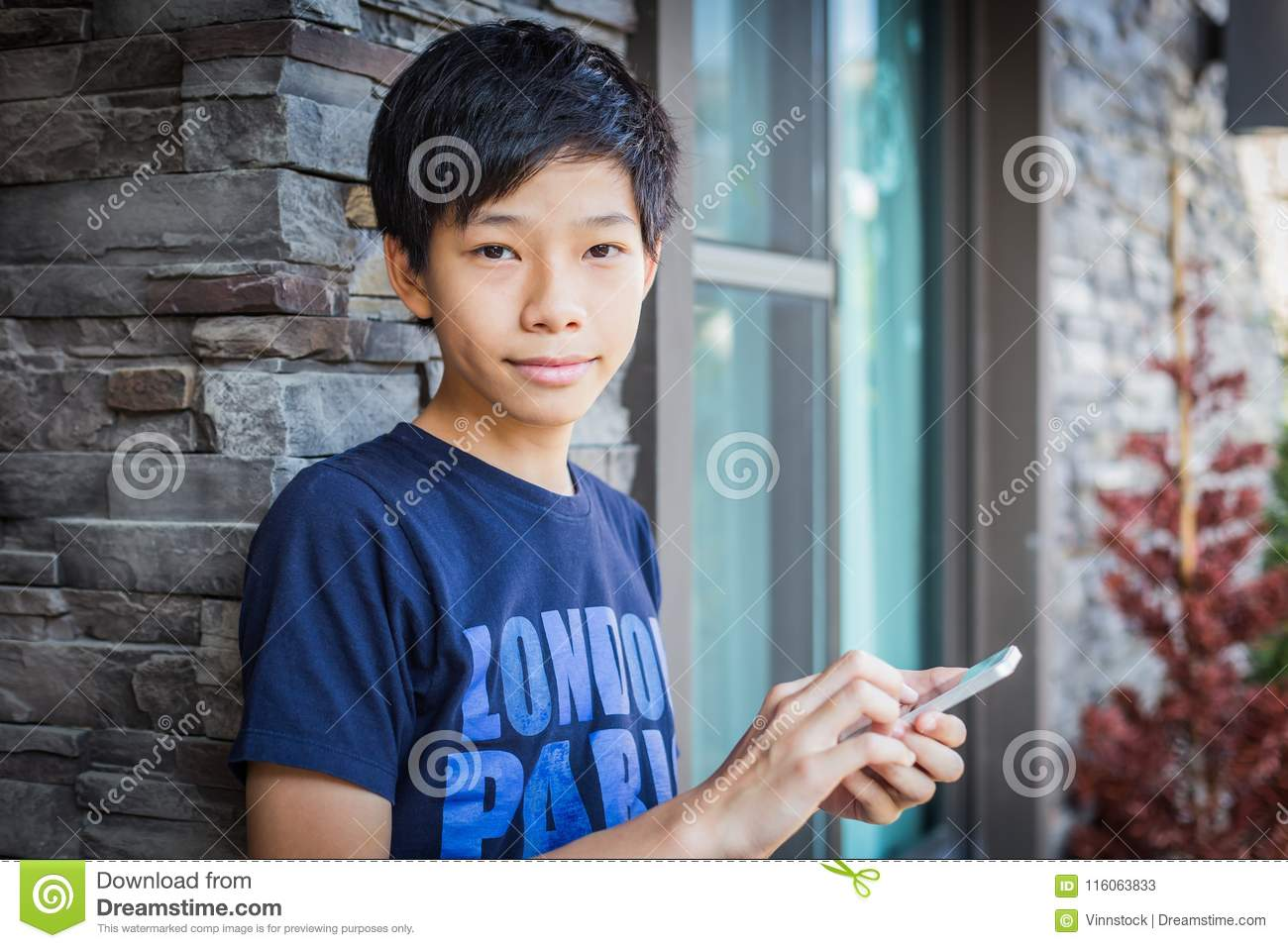 Asian boy teen