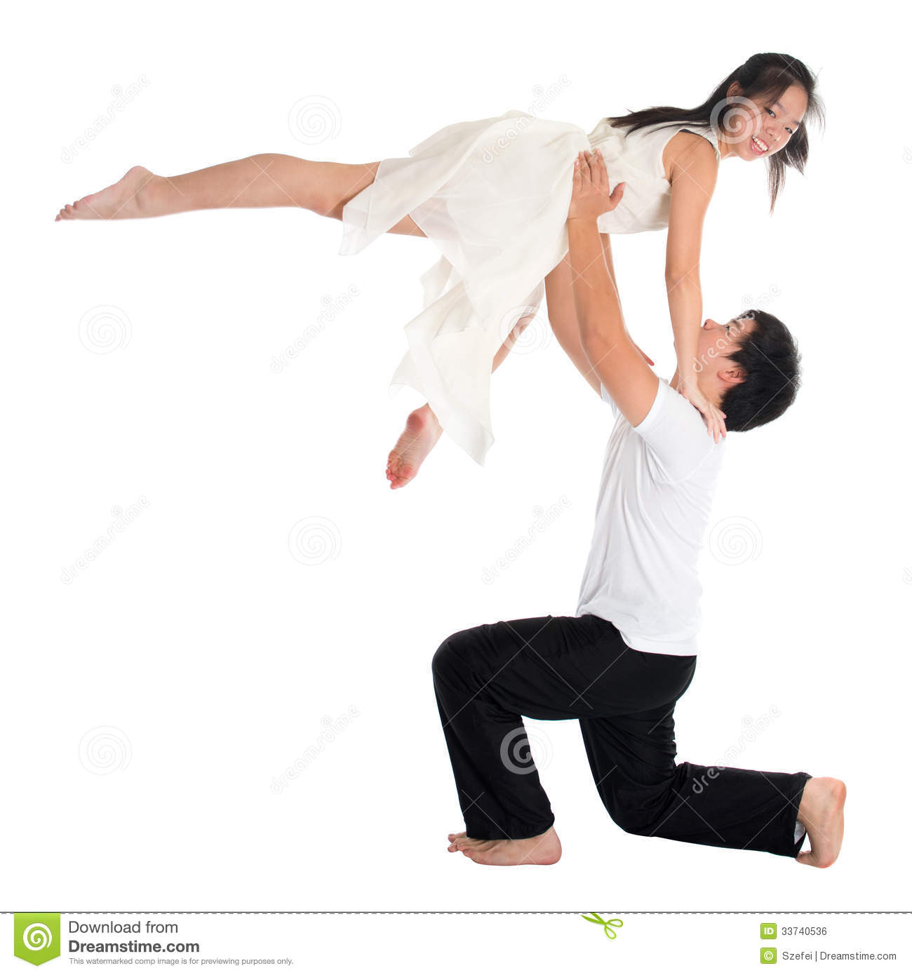 Asian Teens Couple Contemporary Dancers Royalty Free Stock -6890